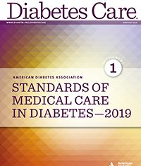 Standards of Medical Care in Diabetes ADA 2019